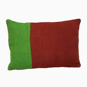 Green & Red Couch Pillow Cover from Vintage Pillow Store Contemporary