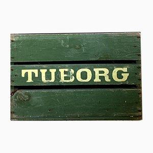 Caja de cerveza danesa vintage de Tuborg, años 50