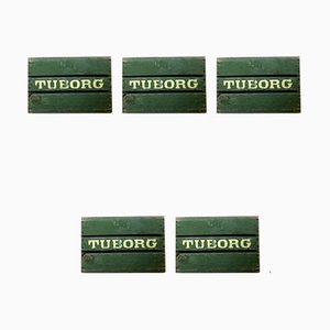 Vintage Danish Beer Crates from Tuborg, 1950s, Set of 5