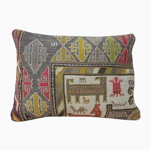 Bohemian Lumbar Kilim Animal Pillow Cover from Vintage Pillow Store Contemporary