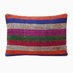 Turkish Striped Kilim Pillow Cover from Vintage Pillow Store Contemporary