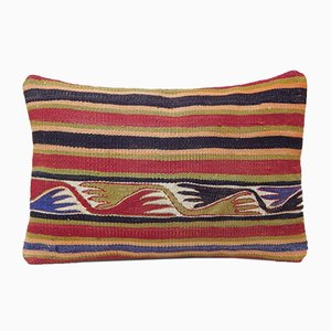 Turkish Handmade Outdoor Kilim Pillow Cover from Vintage Pillow Store Contemporary