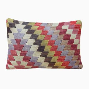 Faded Kilim Lumbar Pillow Cover from Vintage Pillow Store Contemporary