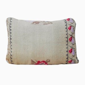 Handmade Needlepoint Kilim Lumbar Pillow Cover from Vintage Pillow Store Contemporary