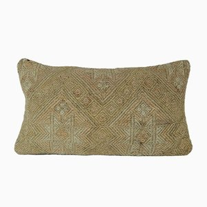 Handgewebter Kelim Kissenbezug aus Wolle in ausgebleichten Farben von Vintage Pillow Store Contemporary