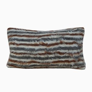 Angora Wool Shaggy Kilim Pillow Cover from Vintage Pillow Store Contemporary