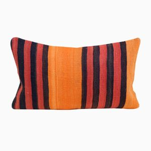 Turkish Rustic Orange Kilim Cushion Cover from Vintage Pillow Store Contemporary