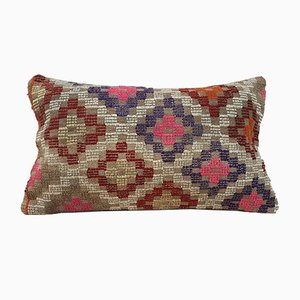 Turkish Wool Handmade Kilim Pillow Cover from Vintage Pillow Store Contemporary