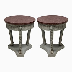 Neo-Classical Sofa Tables, 1950s, Set of 2