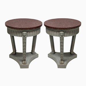 Tables de Canapé Néo-Classiques, 1950s, Set de 2