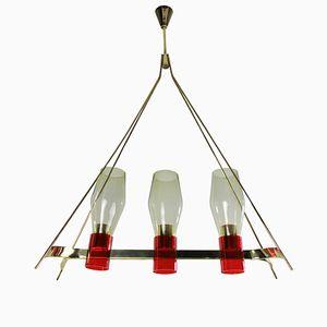Oblong Pendant Light, 1950s