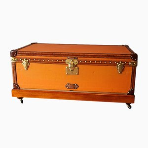 Orange Canvas Steamer Trunk from Louis Vuitton, 1900s