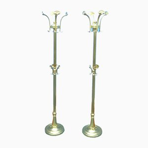 Mid-Century Brass Coat Racks, 1960s, Set of 2