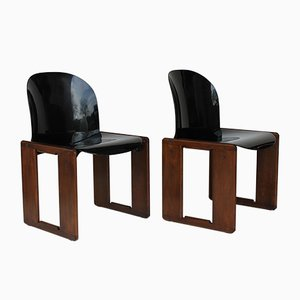 Dialogo Chairs by Afra and Tobia Scarpa for B&B Italia, 1977, Set of 2