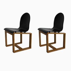 Italienische Stühle, 1970er, 2er Set