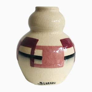 Emaillierte Vase von Simone Larrieu, 1940er
