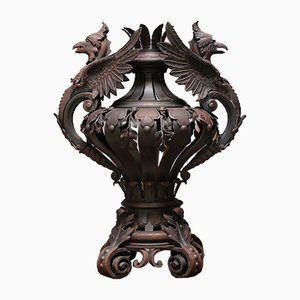 Antique French Wrought Iron Urn