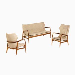 Sofá y sillas Mid-Century de Aksel Bender Madsen para Bovenkamp, años 60. Juego de 3