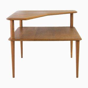 Vintage Minerva Solid Teak Coffee Table by Peter Hvidt & Orla Molgaard Nielsen for France & Søn