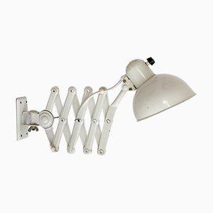 Lámpara acordeón 6718 vintage en crema y blanco de Christian Dell para Kaiser Idell