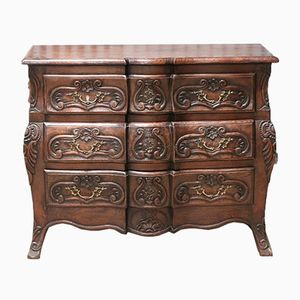 French Serpentine Chest of Drawers