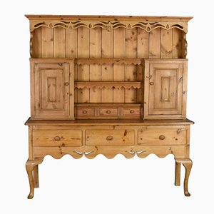Large Pine Victorian-Style Dresser, 1970s