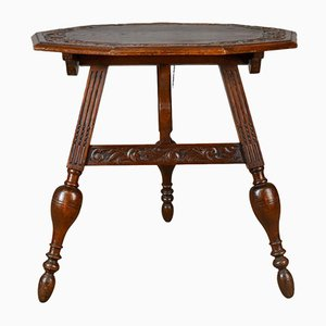 Antique Dutch Oak Folding Table, 1880s