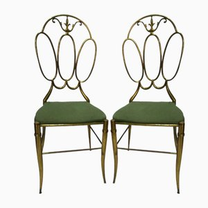 Vintage Brass Chairs, Set of 2