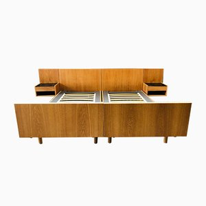 Vintage Danish Oak EU King-Size Bed by Hans Wegner for Getama