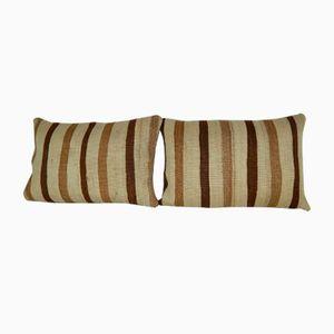 Housses de Coussin d'Extérieur Kilim en Laine Biologique de Vintage Pillow Store Contemporary, Set de 2