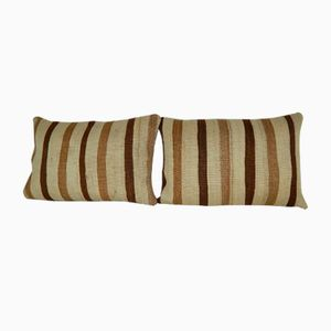 Organic Wool Outdoor Kilim Pillow Covers from Vintage Pillow Store Contemporary, Set of 2
