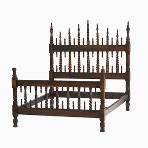 Spanisches antikes provenzalisches Bett, 1900er