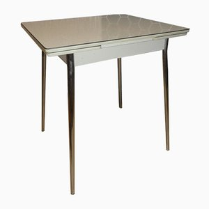 Small Extendable Chrome & Resopal Kitchen Table, 1950s