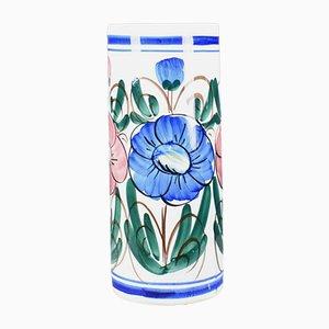 Floraler Mid-Century Schirmständer aus Keramik