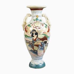 Large Vintage Japanese Baluster Vase