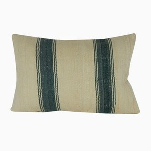 Burlap Boho Kilim Pillow Cover from Vintage Pillow Store Contemporary