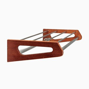 Teak & Steel Coat Rack by Børge Mogensen for Søborg, 1960s