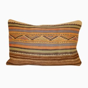 Handmade Farmhouse Kilim Lumbar Pillow Cover from Vintage Pillow Store Contemporary