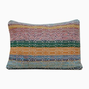 Multicolored Kilim Lumbar Pillow Cover from Vintage Pillow Store Contemporary