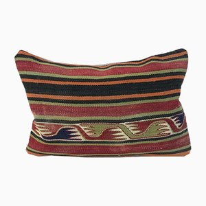 Kelim Kissenbezug aus Wolle in verblassten Farben von Vintage Pillow Store Contemporary