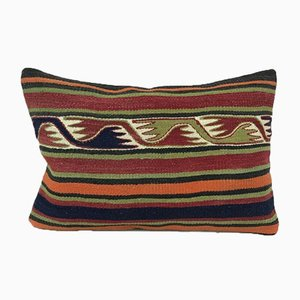 Red & Orange Geometric Kilim Pillow Cover from Vintage Pillow Store Contemporary