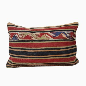Turkish Bohemian Kilim Lumbar Pillow Cover from Vintage Pillow Store Contemporary