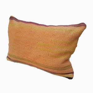 Kelim Kissenbezug in hellem Orange von Vintage Pillow Store Contemporary