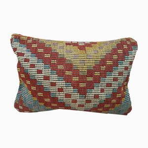 Long Handmade Anatolian Kilim Pillow Cover from Vintage Pillow Store Contemporary