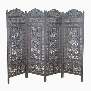 Vintage Folding Screen Room Divider