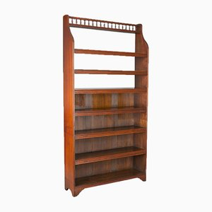 Antique English Open Bookcase, 1910s