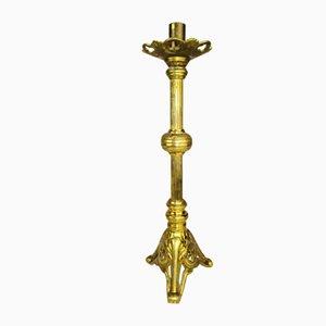 Antiker gotischer Kirchen-Kerzenständer aus Bronze