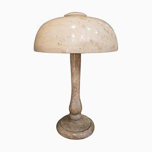 Lámpara de mesa francesa modernista de alabastro, década de 1900