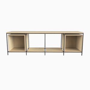 Large Steel & Birch Wood Italic TV Cabinet from CRP.XPN