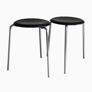 Tripod Stool by Arne Jacobsen for Fritz Hansen, 1950s, Set of 2